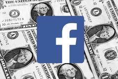 Logotipo do ícone de Facebook fotos de stock royalty free