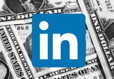 Logotipo do ícone de Linkedin imagens de stock