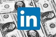 Logotipo do ícone de Linkedin fotografia de stock