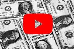 Logotipo do ícone de Youtube fotos de stock royalty free