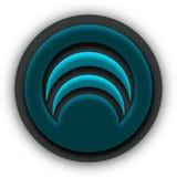 Logotipo do ícone do Internet de Wifi ilustração stock