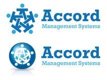 Logotipo do acordo ilustração stock