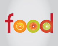 Logotipo do alimento Foto de Stock