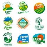 Logotipo do alimento da exploração agrícola ilustração stock