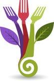 Logotipo do alimento de Eco Imagens de Stock