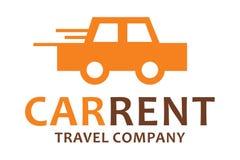 Logotipo do aluguel do carro Imagens de Stock