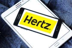Logotipo do aluguer de carros de Hertz imagens de stock