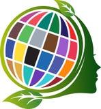 Logotipo do ambiente da cara Fotografia de Stock