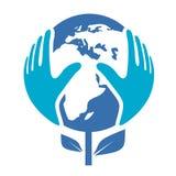 Logotipo do ambiente da terra Fotos de Stock Royalty Free