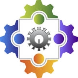 Logotipo do amigo da fábrica Fotografia de Stock