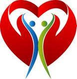 Logotipo do amor dos pares Imagem de Stock