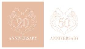 Logotipo do aniversário Foto de Stock