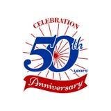 logotipo do aniversário do th 50 ilustração do vetor