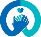 Logotipo do aperto de mão ilustração royalty free