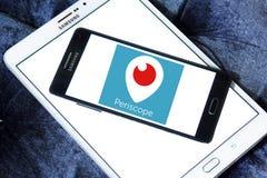 Logotipo do app do periscópio imagem de stock