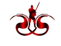 Logotipo do assassino do dragão Imagens de Stock Royalty Free