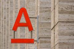 Logotipo do banco do alfa imagem de stock royalty free