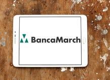 Logotipo do banco de Banca março Imagens de Stock