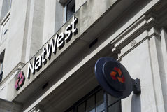 Logotipo do banco de Natwest Imagem de Stock