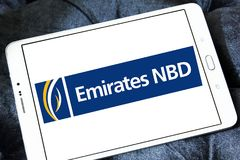 Logotipo do banco dos emirados NBD Imagens de Stock