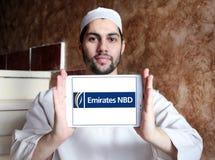 Logotipo do banco dos emirados NBD Fotos de Stock Royalty Free