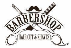 Logotipo do barbeiro ilustração do vetor
