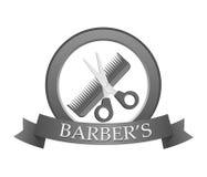 Logotipo do barbeiro. Ilustração do vetor. ilustração royalty free