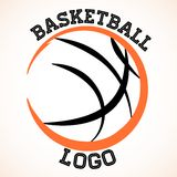 Logotipo do basquetebol Fotos de Stock