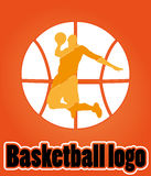 Logotipo do basquetebol Fotos de Stock Royalty Free