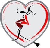 Logotipo do beijo do bordo ilustração do vetor