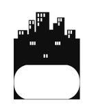 Logotipo do bloco dos bens imobiliários Imagem de Stock
