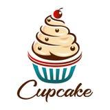 Logotipo do bolo do copo para a padaria ilustração do vetor