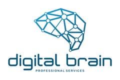 Logotipo do cérebro de Digitas Fotografia de Stock
