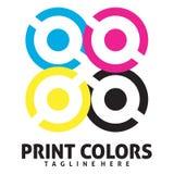 Logotipo do círculo de cor Imagem de Stock