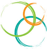 Logotipo do círculo de cor Fotografia de Stock Royalty Free