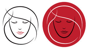 Logotipo do cabelo ilustração do vetor