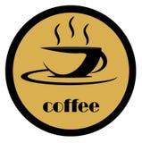 Logotipo do café imagens de stock