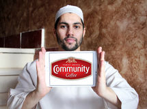 Logotipo do café da comunidade Fotografia de Stock