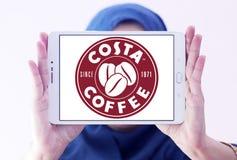 Logotipo do café da costela Foto de Stock Royalty Free