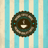 Logotipo do café do vintage Imagem de Stock Royalty Free