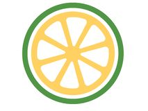Logotipo do cal do vetor em um fundo branco ilustração royalty free