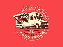 Logotipo do caminhão do alimento ilustração royalty free