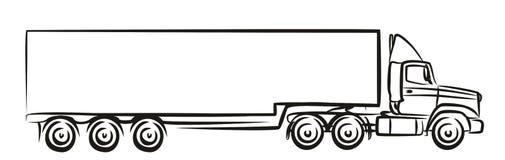 Logotipo do caminhão grande Fotografia de Stock
