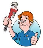 Logotipo do canalizador dos desenhos animados Imagem de Stock Royalty Free