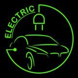 Logotipo do carro bonde Símbolo dos veículos de Eco Ícone ecológico do transporte Ilustração do vetor ilustração do vetor
