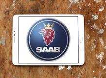 Logotipo do carro de Saab fotografia de stock royalty free