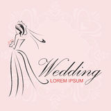 Logotipo do casamento Fotografia de Stock Royalty Free