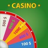 Logotipo do casino Roda de fortuna ilustração royalty free