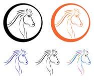Logotipo do cavalo Imagens de Stock