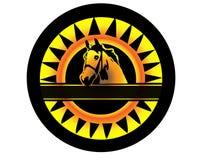 Logotipo do cavalo da beleza Fotos de Stock